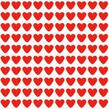 Fundo sem emenda com corações vermelhos Fotos de Stock Royalty Free