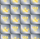 Fundo sem emenda com coroas e flor de lis Imagens de Stock