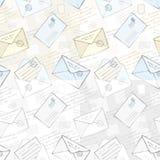 Fundo sem emenda com envelopes Imagens de Stock