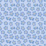Fundo sem emenda com flores azuis Imagens de Stock