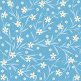 Fundo sem emenda com flores e as folhas pequenas Fotos de Stock Royalty Free