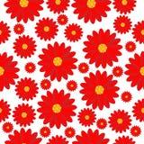 Fundo sem emenda com flores vermelhas ilustração stock