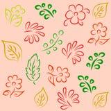 Fundo sem emenda com flowers1 abstrato Imagens de Stock