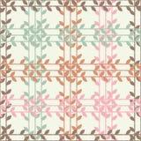 Fundo sem emenda com folhas decorativas brushwork Choque da mão Textura do garrancho Foto de Stock Royalty Free