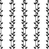 Fundo sem emenda com folhas decorativas brushwork Choque da mão Textura do garrancho Foto de Stock