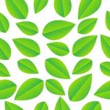 Fundo sem emenda com folhas verdes ilustração do vetor