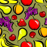 Fundo sem emenda com fruta Foto de Stock