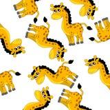 Fundo sem emenda com girafas ilustração stock