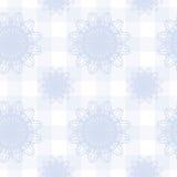 Fundo sem emenda com luz - flores e listras azuis Fotos de Stock