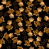 Fundo sem emenda com macacos ilustração do vetor