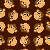 Fundo sem emenda com macacos ilustração royalty free