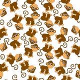 Fundo sem emenda com macacos ilustração stock