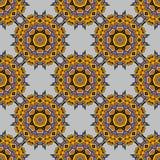Fundo sem emenda com motivos turcos orientais árabes Fotografia de Stock Royalty Free