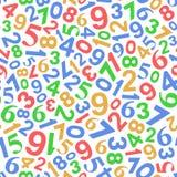 Fundo sem emenda com números da cor no branco Imagem de Stock