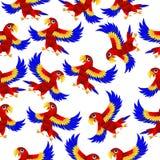 Fundo sem emenda com papagaios ilustração royalty free