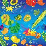 Fundo sem emenda com peixes tropicais Foto de Stock