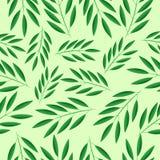 Fundo sem emenda com ramos verdes ilustração do vetor