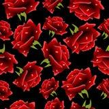 Fundo sem emenda com rosas ilustração royalty free