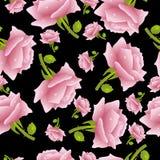 Fundo sem emenda com rosas ilustração stock