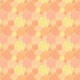 Fundo sem emenda com rosas cor-de-rosa Vetor Imagens de Stock Royalty Free