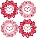 Fundo sem emenda com rosas e corações Ilustração Stock