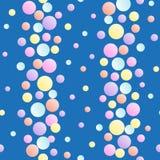 Fundo sem emenda com teste padrão vertical de confetes multi-coloridos ilustração royalty free