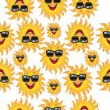 Fundo sem emenda com vidros de sol alegres ilustração stock