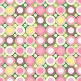 fundo sem emenda Cor-de-rosa-verde Fotos de Stock Royalty Free