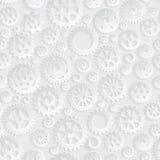 Fundo sem emenda criativo do teste padrão de Gray Gears 3d Imagens de Stock Royalty Free