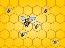 Fundo sem emenda da abelha Imagem de Stock Royalty Free
