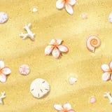 Fundo sem emenda da areia com flores ilustração royalty free