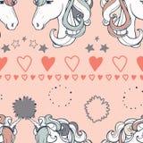 Fundo sem emenda da cópia do cavalo do vetor Ilustração Stock