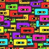 Fundo sem emenda da cassete áudio Fotografia de Stock