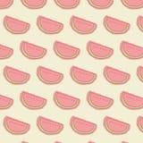 Fundo sem emenda da cor pastel da melancia Imagens de Stock Royalty Free