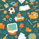 Fundo sem emenda da educação no estilo do esboço Fotografia de Stock Royalty Free