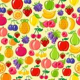 Fundo sem emenda da fruta ilustração royalty free