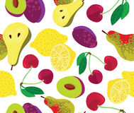 Fundo sem emenda da fruta Fotografia de Stock Royalty Free