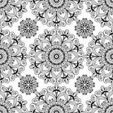 Fundo sem emenda da hena de Mehndi com artigos da decoração do buta no estilo indiano Fotos de Stock Royalty Free