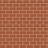 Fundo sem emenda da ilustração do vetor da parede de tijolo vermelho - textura Foto de Stock