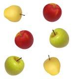 Fundo sem emenda da imagem do vetor das maçãs Fotos de Stock Royalty Free