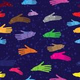 Fundo sem emenda da mão da água de peixes para termas Imagem de Stock Royalty Free