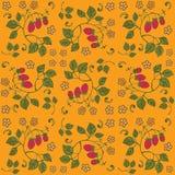 Fundo sem emenda da morango amarela Ilustração do Vetor