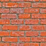 Fundo sem emenda da parede de tijolo vermelho Fotos de Stock Royalty Free