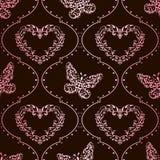 Fundo sem emenda da primavera na cor-de-rosa e no marrom Imagens de Stock Royalty Free