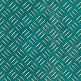 Fundo sem emenda da textura da folha de metal - placa do diamante - cor verde azul Fotografia de Stock