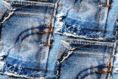 Fundo sem emenda das calças de brim - textura do grunge Fotos de Stock Royalty Free