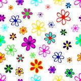 Fundo sem emenda das flores simples ilustração stock