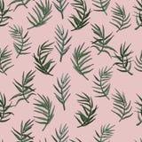 Fundo sem emenda das folhas de palmeira Imagem de Stock Royalty Free