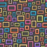Fundo sem emenda das molduras para retrato coloridas Fotografia de Stock