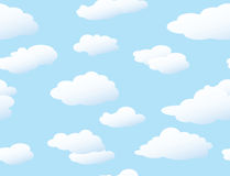 Fundo sem emenda das nuvens ilustração do vetor